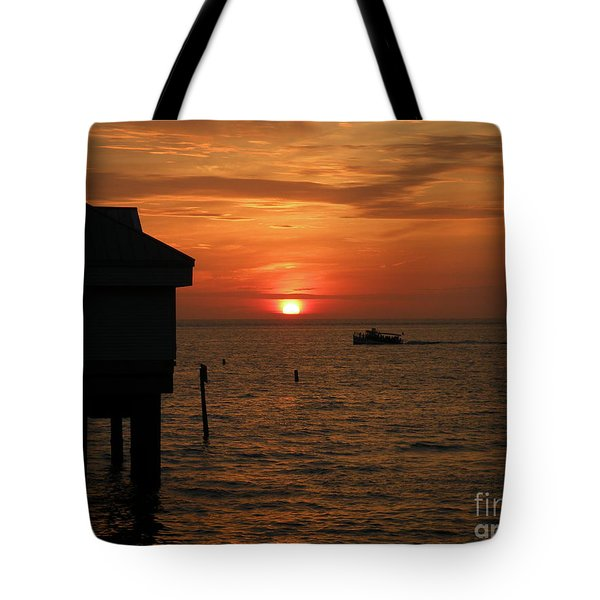 Sunset On The Gulf Of Mexico Tote Bag