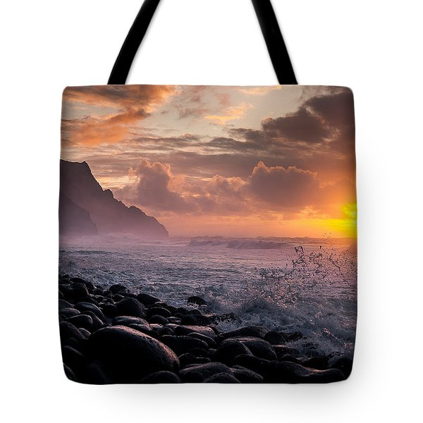 Sunset On The Kalalau Tote Bag