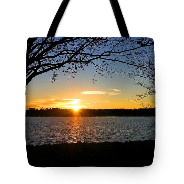 Sunset On The Potomac Tote Bag by Emmy Marie Vickers