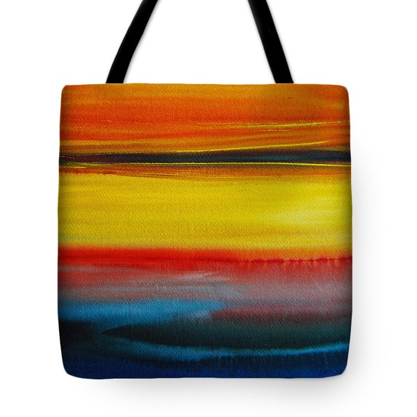 Sunset On The Puget Sound Tote Bag by Jani Freimann