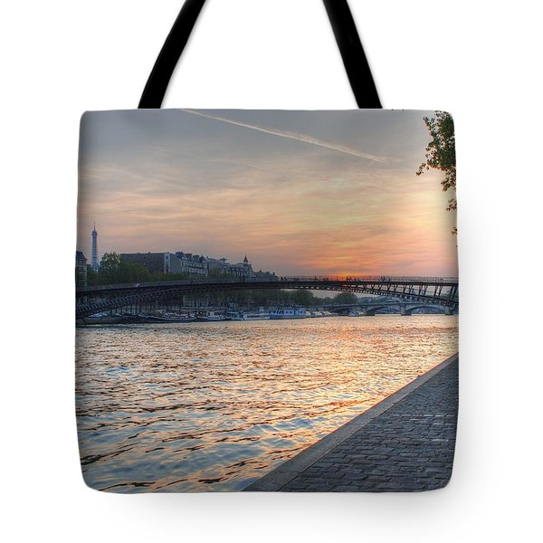 Sunset On The Seine Tote Bag