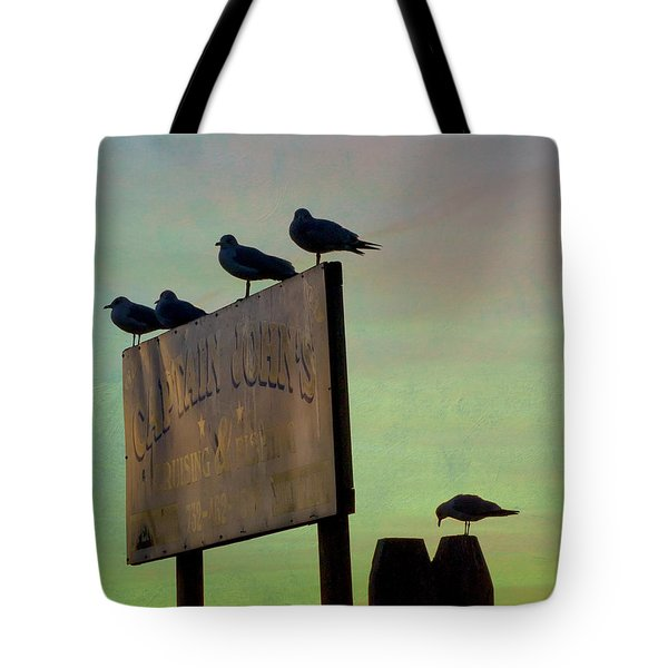 Sunset On The Sign Tote Bag