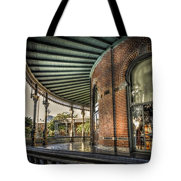 Sunset On The Veranda Tote Bag