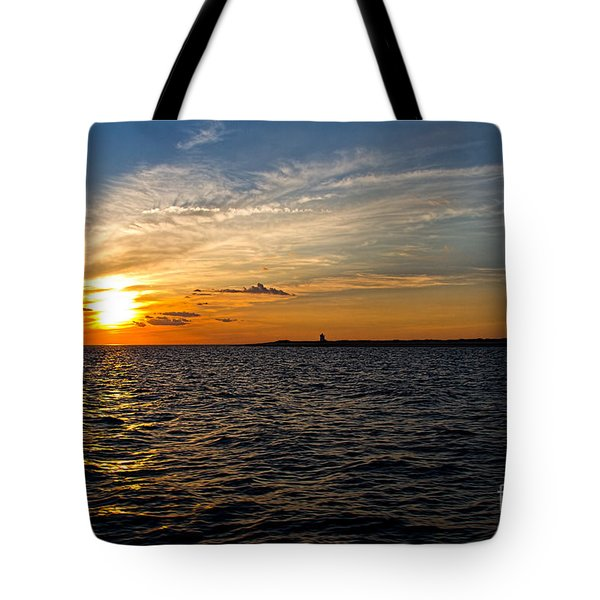 Sunset On The Water In Provincetown Tote Bag by Eleanor Abramson
