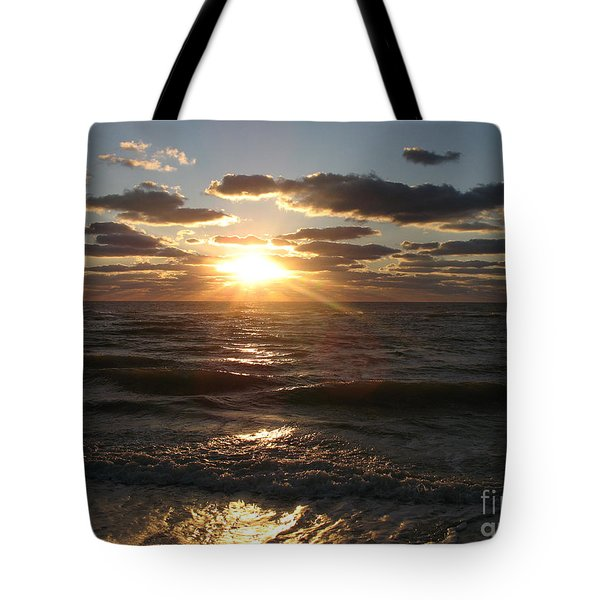 Tote Bag featuring the photograph Sunset On Venice Beach  by Christiane Schulze Art And Photography