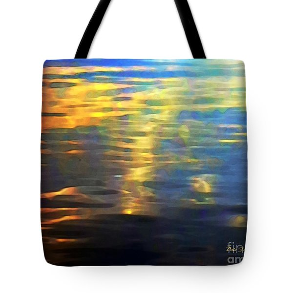 Sunset On Water Tote Bag