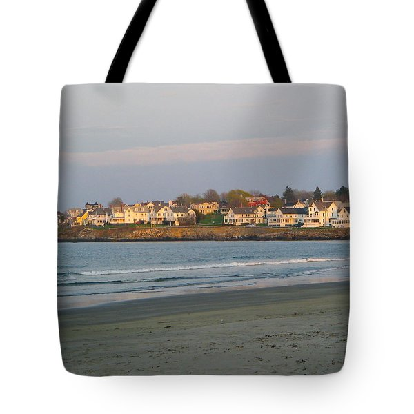 Sunset On York Beach Tote Bag