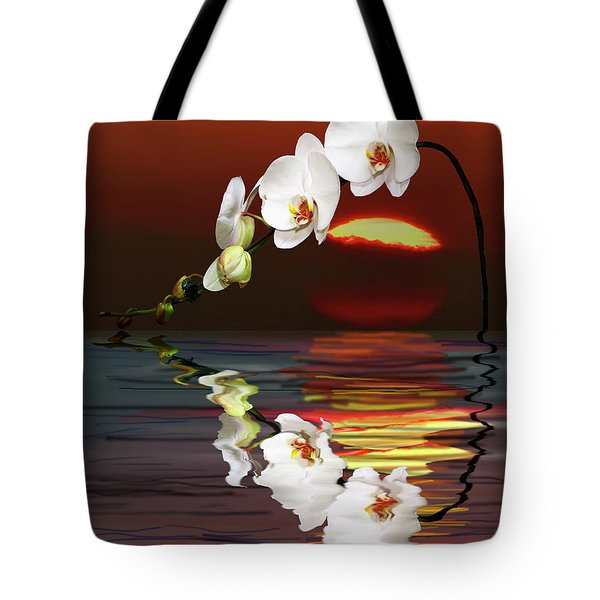 Sunset Orchids Tote Bag by Angela A Stanton