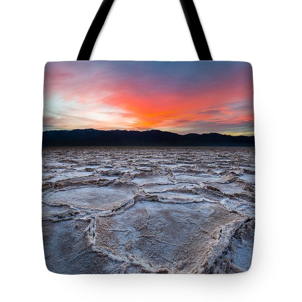 Sunset Over Badwater Tote Bag