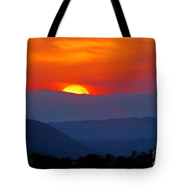 Sunset Over California Tote Bag by Martin Konopacki