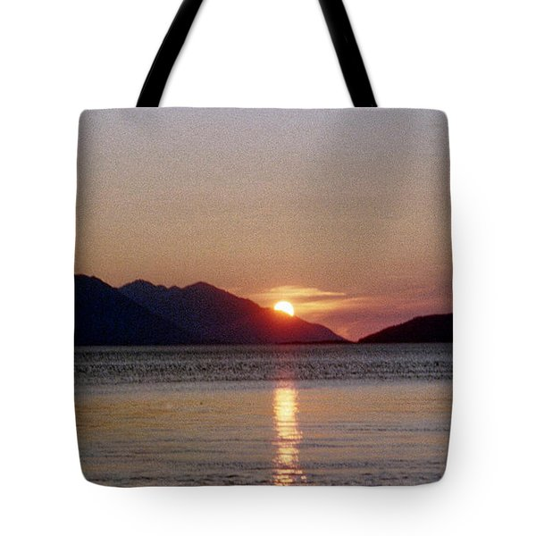 Sunset Over Cook Inlet Alaska Tote Bag by Denyse Duhaime