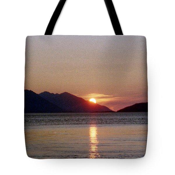 Sunset Over Cook Inlet Alaska Tote Bag