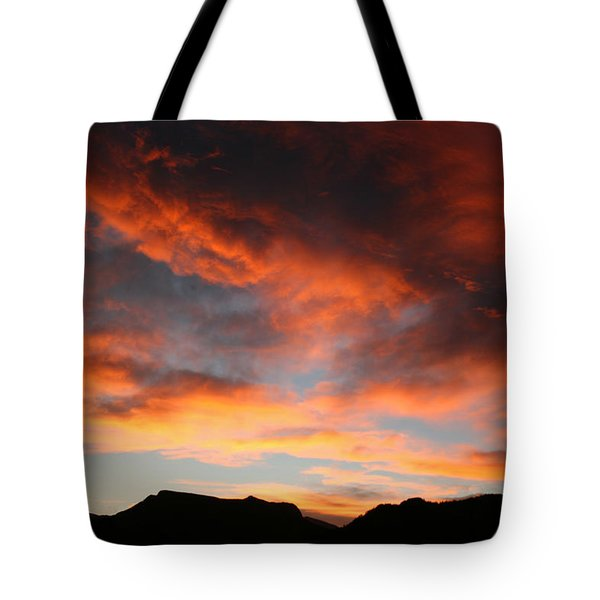 Sunset Over Estes Park Tote Bag