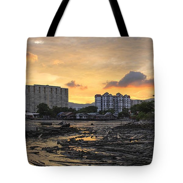 Sunset Over Georgetown Penang Malaysia Tote Bag