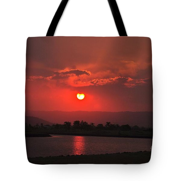 Sunset Over Hope Island Tote Bag