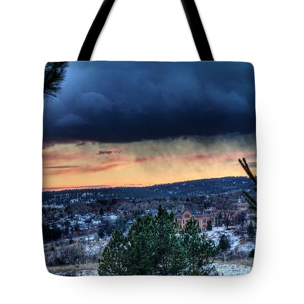 Sunset Over Hot Springs Tote Bag