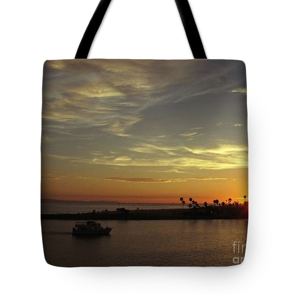 Sunset Over Jetty Point Tote Bag