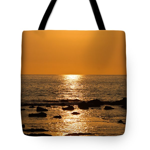 Sunset Over Kona Tote Bag