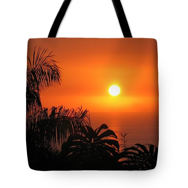 Sunset Over Kona Hawaii Tote Bag by Sabine Edrissi