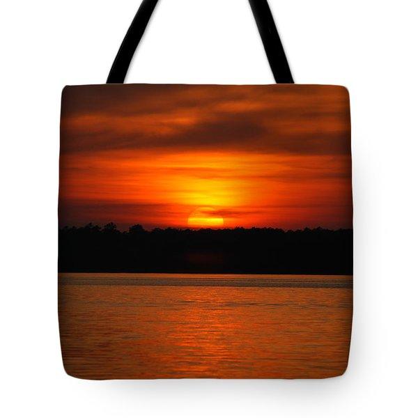 Sunset Over Lake Martin Tote Bag