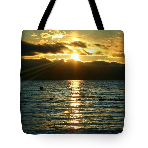 Sunset Over Lake Tahoe Tote Bag