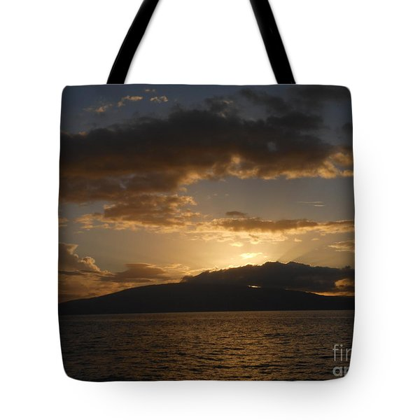 Sunset Over Lanai Tote Bag by Fred Wilson