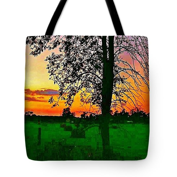 Sunset Over M-33 Tote Bag by Daniel Thompson