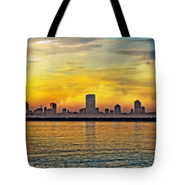 Sunset Over Milwaukee Tote Bag