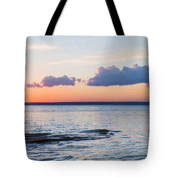 Sunset Over Miners Beach, Pictured Tote Bag