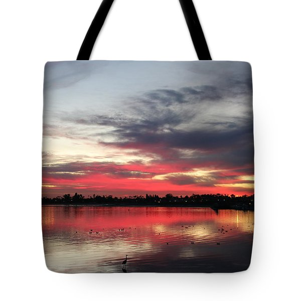 Sunset Over Mission Bay  Tote Bag