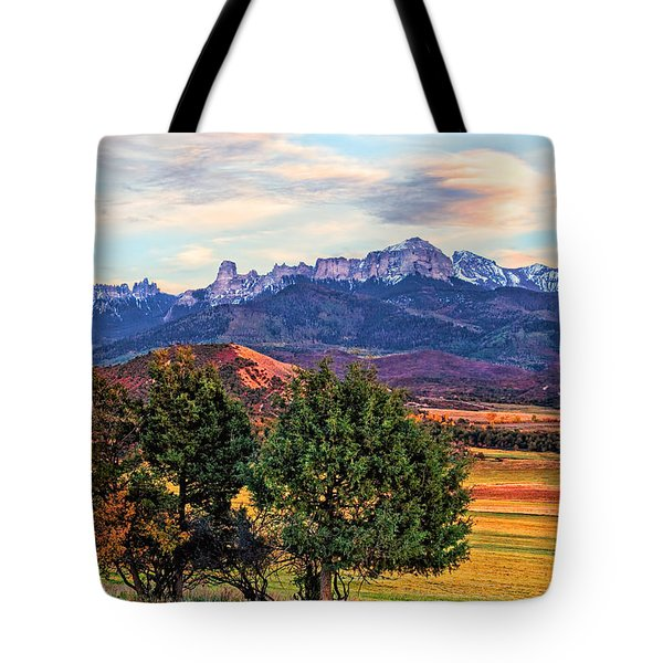 Sunset Over Owl Creek Pass Tote Bag