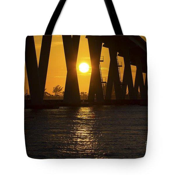 Sunset Over Sanibel Island Photo Tote Bag