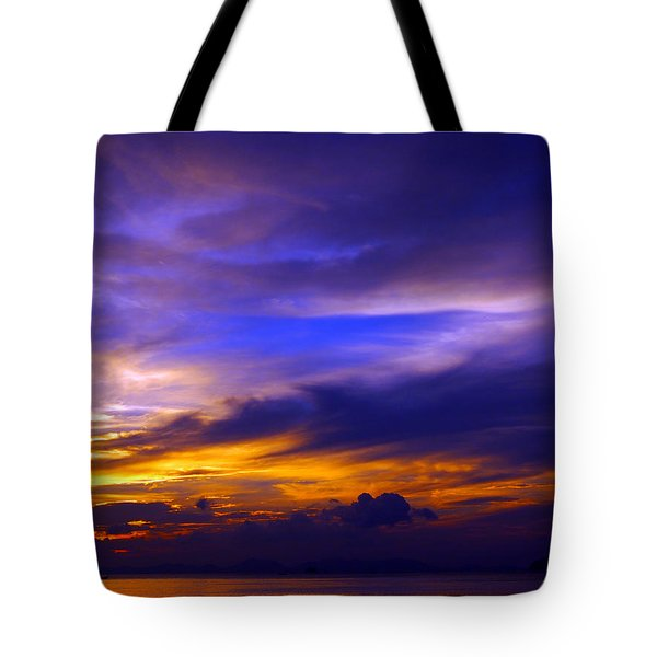 Sunset Over Sea Tote Bag by Kaleidoscopik Photography
