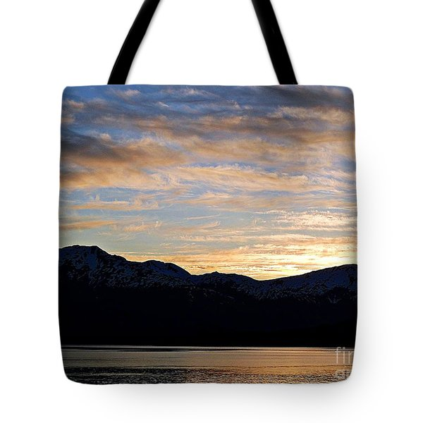 Sunset Over Skagway Ak Tote Bag