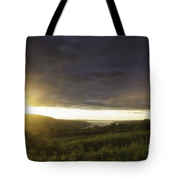 Sunset Over Skaneateles Tote Bag
