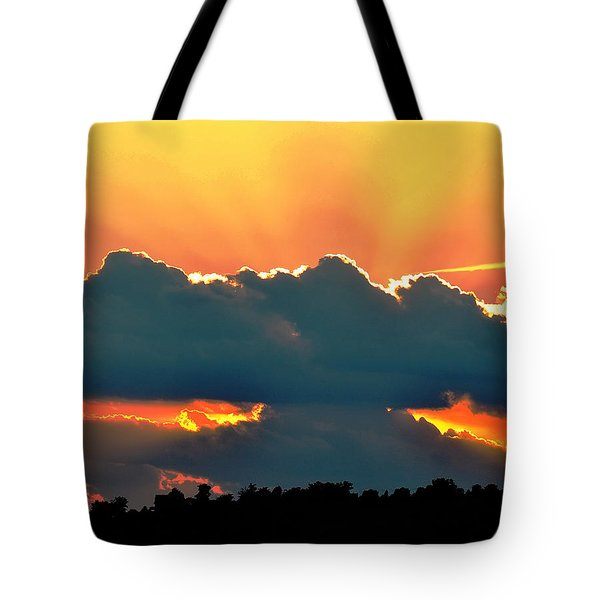 Sunset Over Southern Ohio Tote Bag