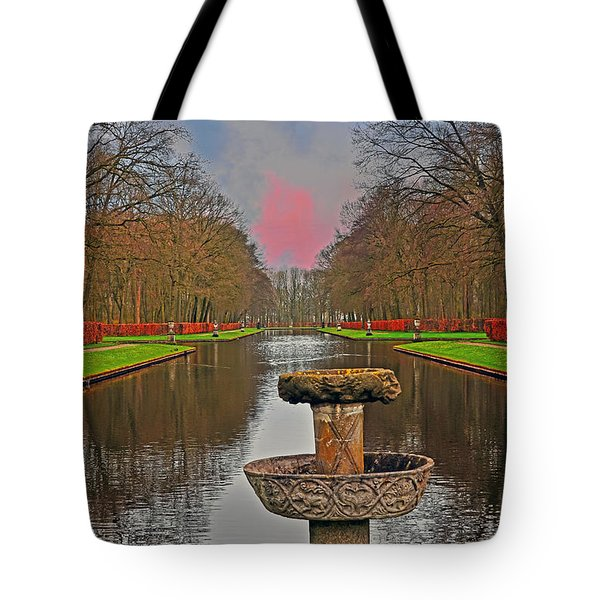 Sunset Over The Garden Tote Bag
