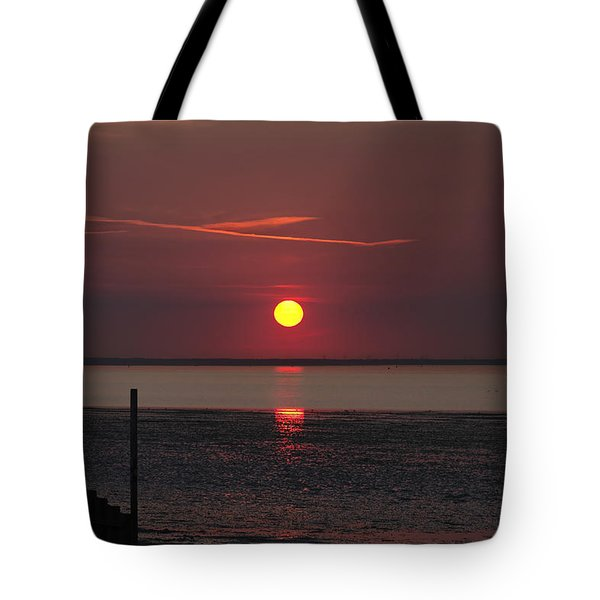 Sunset Over The Hampshire Coast Tote Bag by Rod Johnson
