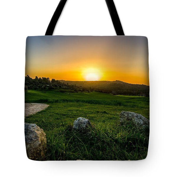 Sunset Over The Judean Hills Tote Bag