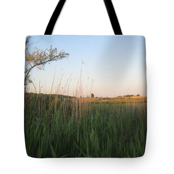 Sunset Over The Marshlands Tote Bag