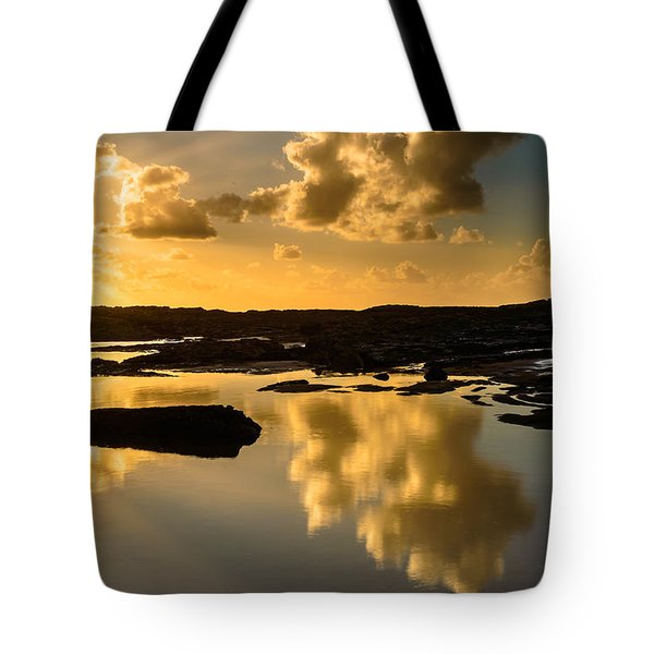Sunset Over The Ocean V Tote Bag by Marco Oliveira
