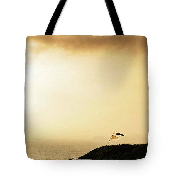 Sunset Over The Pacific Ocean In Lima Tote Bag