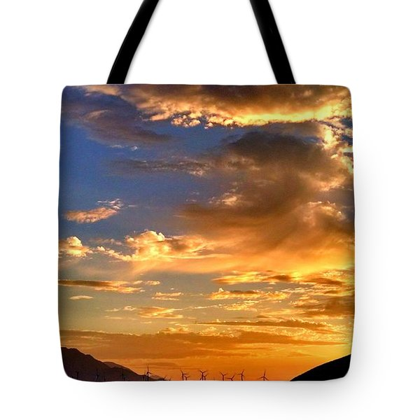 Sunset Over The Pass Tote Bag by Chris Tarpening