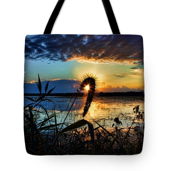 Tote Bag featuring the photograph Sunset Over The Refuge by Dale Kauzlaric