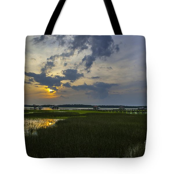 Sunset Over The Wando Tote Bag