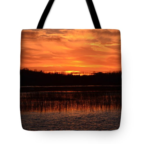 Sunset Over Tiny Marsh Tote Bag