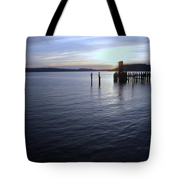Sunset Over Titlow Tote Bag