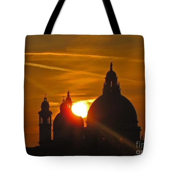 Sunset Over Venice Tote Bag