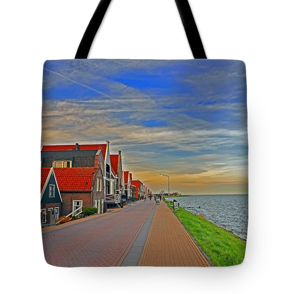 Sunset Over Volendam Tote Bag