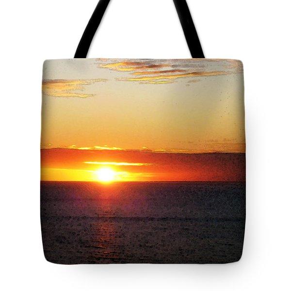 Sunset Painting - Orange Glow Tote Bag